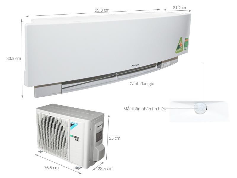 Thông số kỹ thuật Máy lạnh Daikin Inverter 1 HP FTKJ25NVMVW
