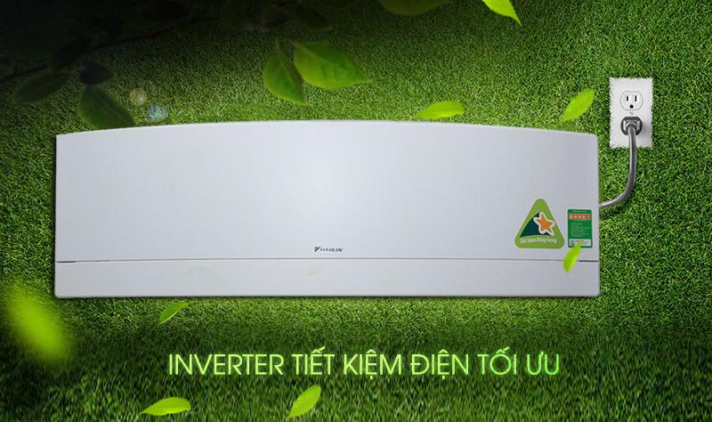 Với công nghệ Inverter, gia đình bạn sẽ giảm bớt một phần chi phí nhờ khả năng tiết kiệm điện của máy lạnh Daikin FTKJ25NVMVW