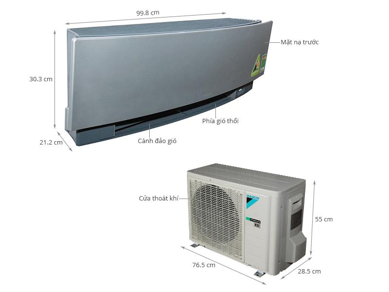 Thông số kỹ thuật Máy lạnh Daikin Inverter 1.5 HP FTKJ35NVMVS