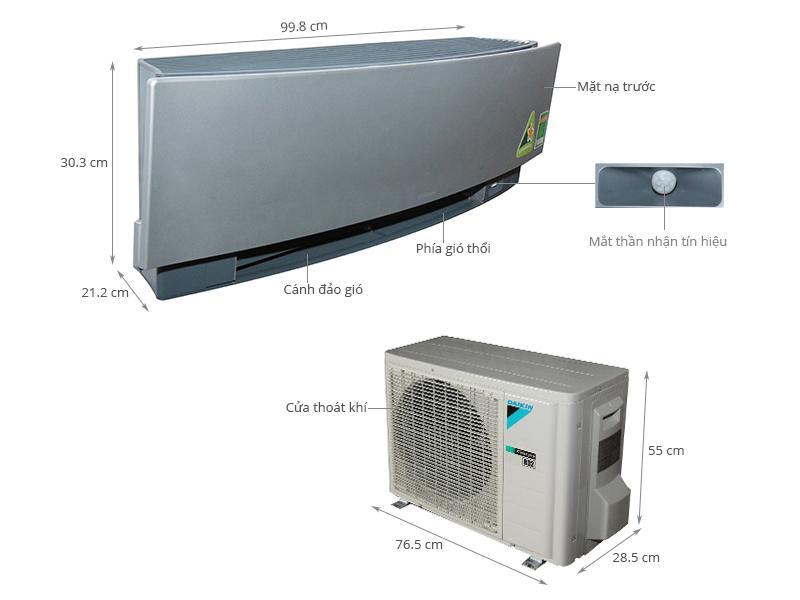 Thông số kỹ thuật Máy lạnh Daikin Inverter 1 HP FTKJ25NVMVS