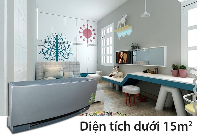 Phù hợp với những gian phòng có diện tích nhỏ