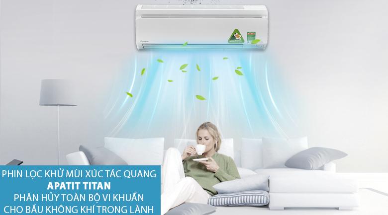 Apatit Titan - Điều hòa 2 chiều Daikin Inverter 1 HP FTXS25GVMV