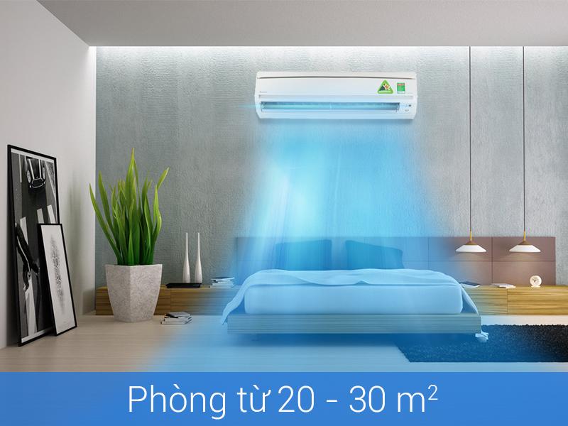 Công suất điều hòa đạt đến 17100 BTU
