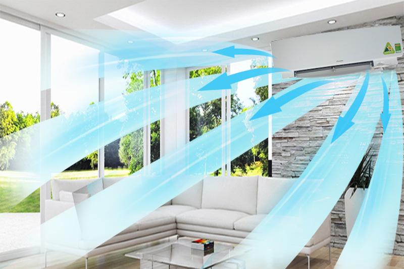 Luồng gió 3 chiều đảm bảo nhiệt độ đồng đều