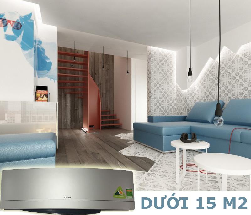 Công suất 1 HP đạt hiệu quả tối ưu cho không gian dưới 15 m2