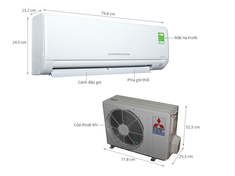 Thông số kỹ thuật Máy lạnh Mitsubishi Electric 2 HP MS-HL50VC