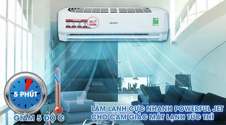 Powerful Jet - Máy lạnh Sharp 2 HP AH-A18SEW