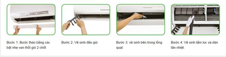 Thiết kế tháo lắp dễ dàng vệ sinh.