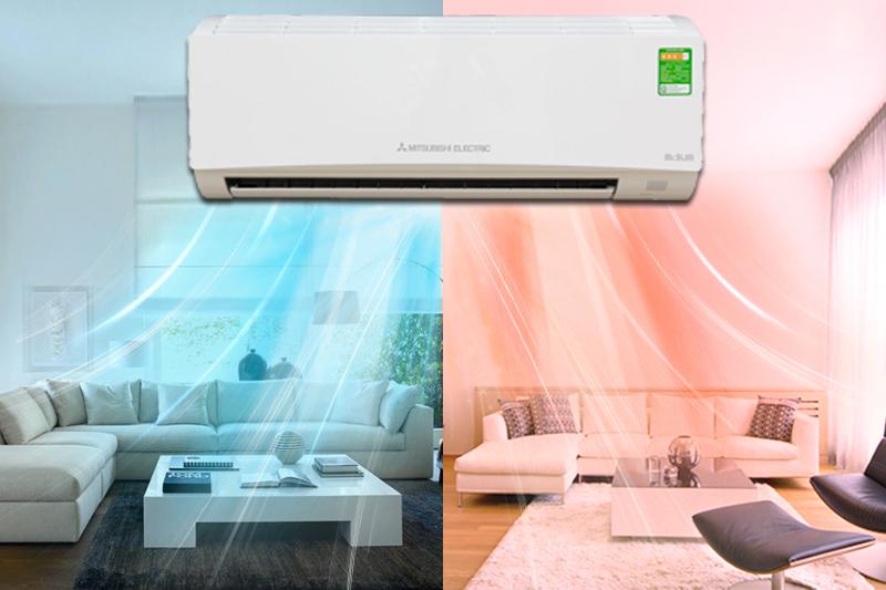 điều hòa Mitsubishi Electric MSZ-HL35VA có khả năng làm lạnh và cả sưởi ấm
