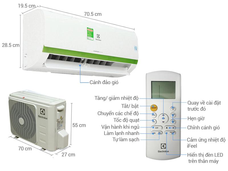 Thông số kỹ thuật Máy lạnh Electrolux Inverter 1 HP ESV09CRK-A4
