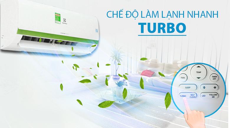 Làm lạnh nhanh với nút bấm Turbo - Máy lạnh Electrolux Inverter 1 HP ESV09CRK-A4