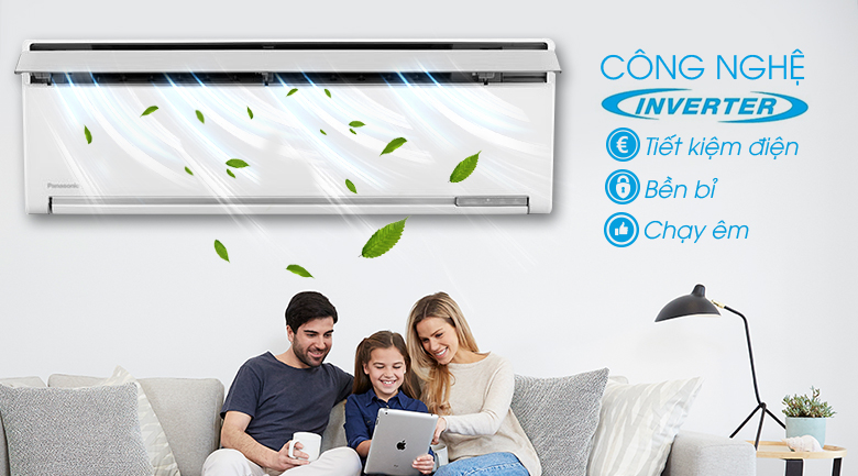 Inverter - Máy lạnh Panasonic Inverter 1 HP CU/CS-VU9SKH-8