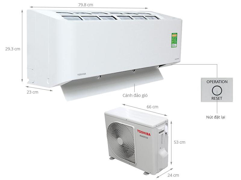 Thông số kỹ thuật Máy lạnh Toshiba 1 HP RAS-H10BKCV-V