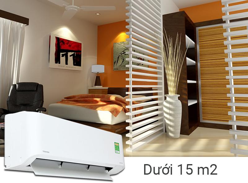 Công suất làm lạnh 1 HP phù hợp với gian phòng dưới 15 m2