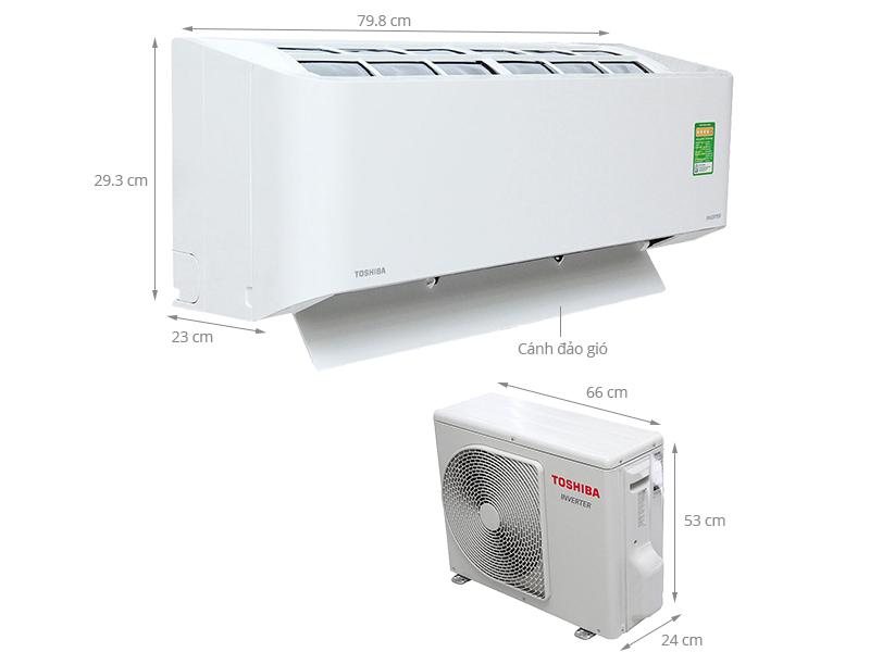 Thông số kỹ thuật Điều hòa Toshiba Inverter 12200 BTU RAS-H13BKCV-V