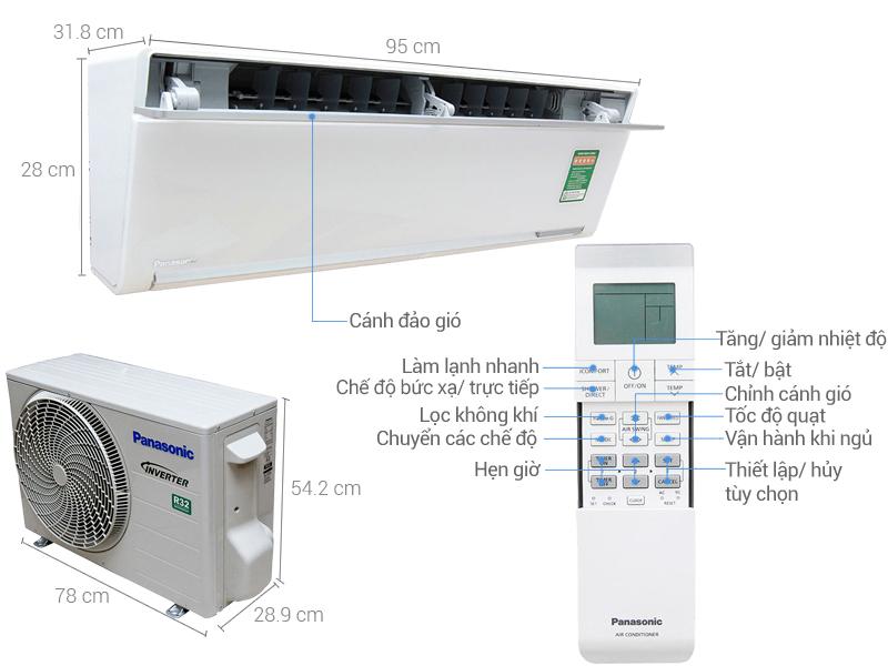 Thông số kỹ thuật Máy lạnh Panasonic Inverter 1.5 HP CU/CS-VU12SKH-8