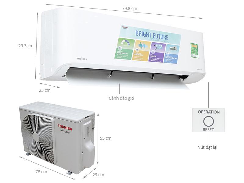 Thông số kỹ thuật Điều hòa Toshiba Inverter 17700 BTU RAS-H18BKCV-V