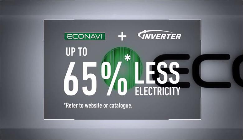 Cảm biếc Econavi giúp máy điều hòa tùy chỉnh được nhiệt độ phù hợp với trạng thái căn phòng