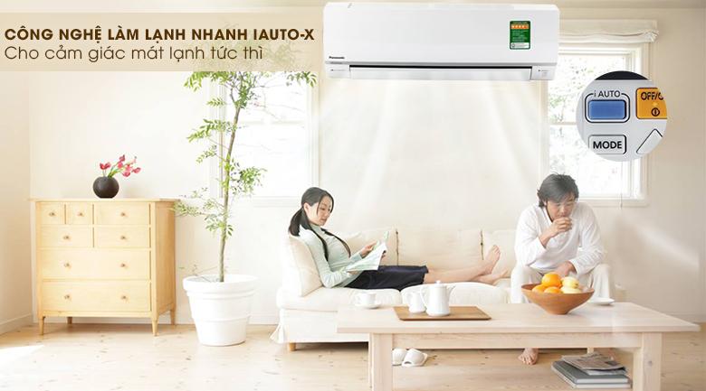 Làm lạnh nhanh iAuto-X - Điều hòa 2 chiều Panasonic Inverter 1.5 HP CU/CS-YZ12SKH
