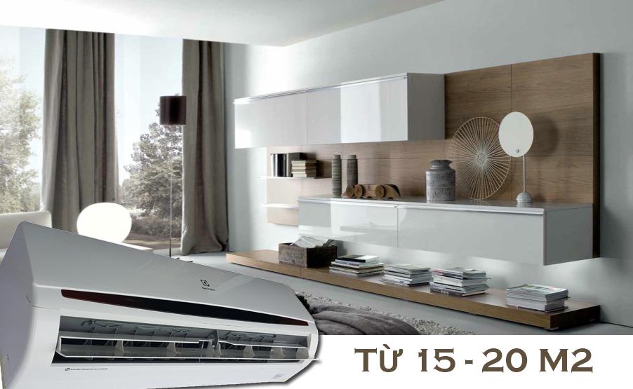 Công suất 1.5 HP phù hợp cho không gian 15-20 m2