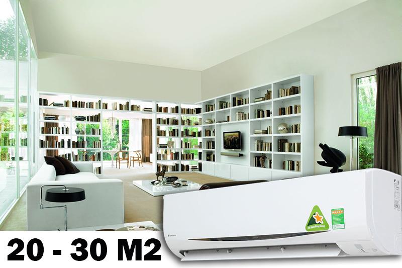 Công suất 2 HP phù hợp cho không gian từ 20-30 m2