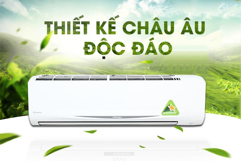 Có kiểu dáng mới lạ, với đường cong mặt cười sinh động và gần gũi, máy lạnh Daikin FTKC60QVMV sẽ đem lại sự tươi mới cho căn phòng của bạn