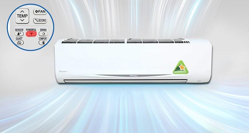 Máy lạnh Daikin FTKC60QVMV còn sở hữu chế độ làm lạnh nhanh