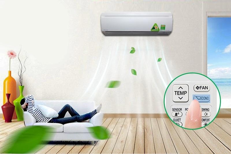 Với chức năng Econo, người sử dụng sẽ hạn chế được sự quá tải điện diễn ra, cũng như là giới hạn được điện năng tối đa tiêu thụ để máy lạnh Daikin FTKC60QVMV tiết kiệm điện hơn