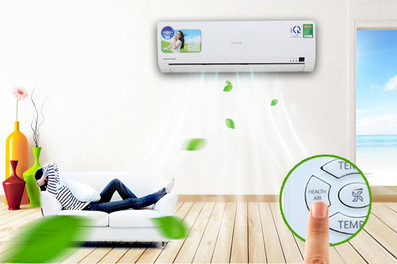 Với công nghệ Health Air thân thiện với người dùng, điều hòa Aqua AQA-KCRV9WGS có khả năng điều chỉnh cánh quạt sao cho đem lại sức khỏe tốt cho người dùng