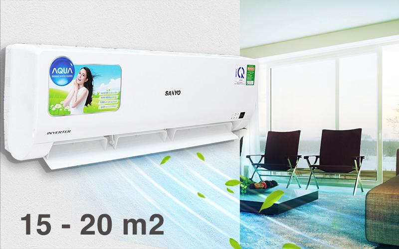 Với công suất hoạt động 12000 BTU, chiếc điều hòa này sẽ thật phù hợp cho những căn phòng có từ 15 đến 20 mét vuông