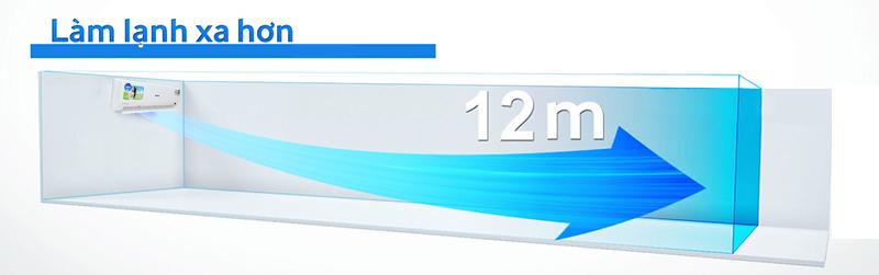Chiếc điều hòa Aqua AQA-KCRV12WGS có thiết kế quạt gió đặc biệt