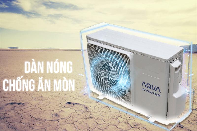 Với cấu trúc của dàn lạnh xanh có thể chống ăn mòn, điều hòa Aqua AQA-KCRV12WGS sẽ có tuổi thọ lớn hơn