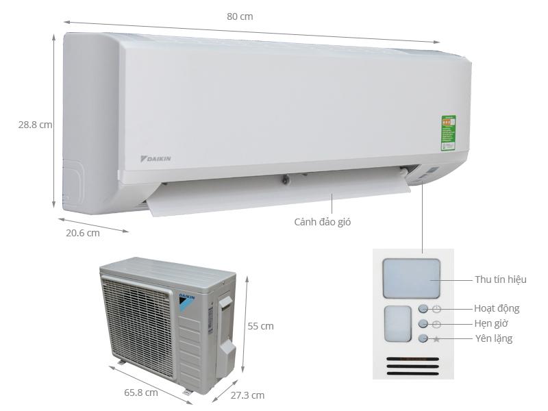 Thông số kỹ thuật Máy lạnh Daikin 1 HP FTV25BXV1