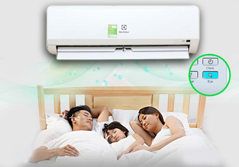 Chế độ Eco kiểm soát nhiệt độ phòng