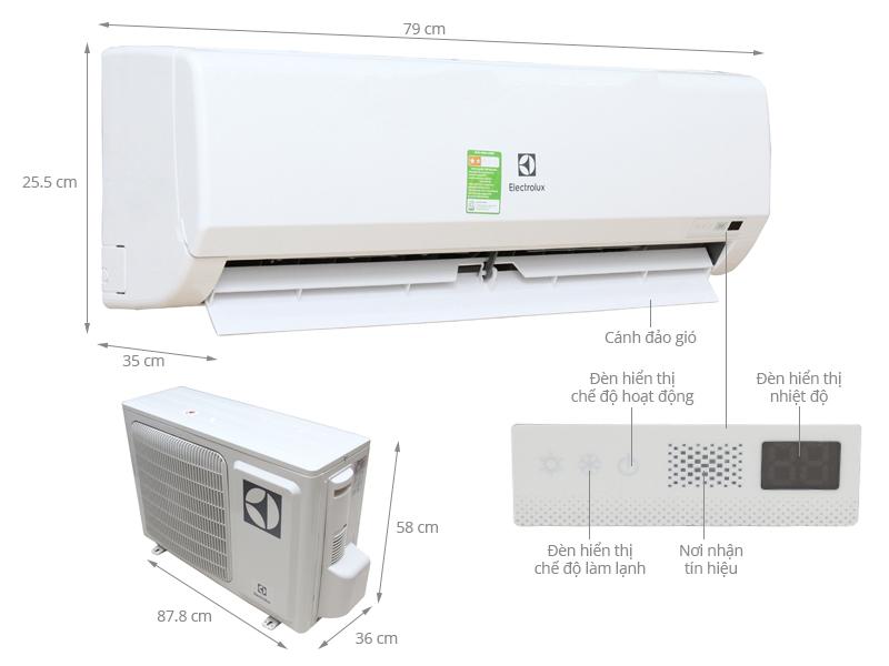Thông số kỹ thuật Máy lạnh Electrolux 1.5 HP ESM12CRF-D3