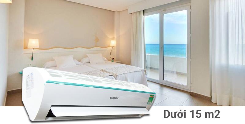 Công suất 1 HP bảo đảm làm lạnh hiệu quả cho không gian dưới 15 m2
