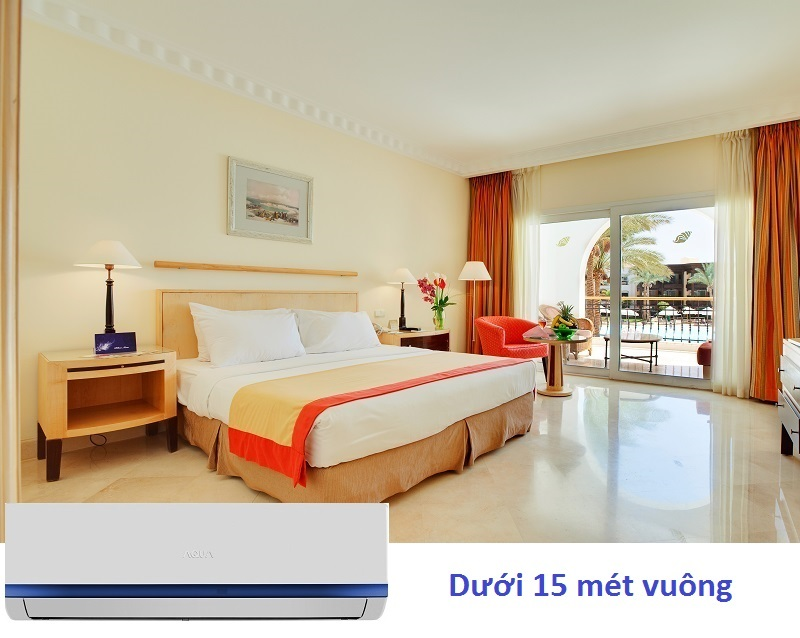Với công suất 1 HP, chiếc máy lạnh Aqua này tương đối phù hợp các căn phòng có diện tích dưới 15 mét vuông
