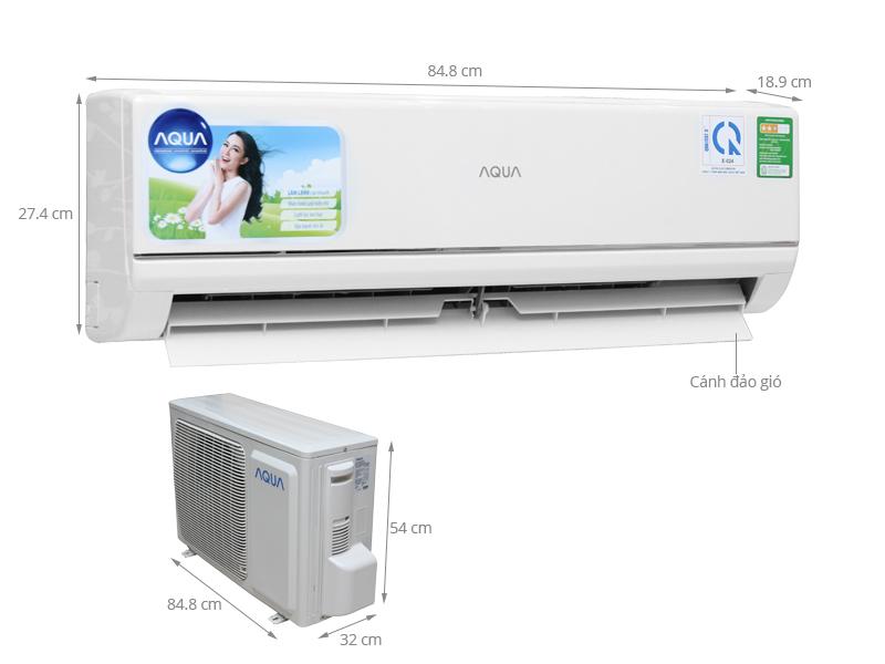 Thông số kỹ thuật Máy lạnh Aqua 1.5 HP AQA-KC12BGES8T