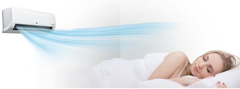 Máy lạnh LG V13END được trang bị tính năng thổi gió dễ chịu
