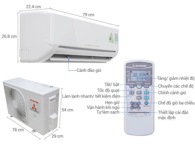Thông số kỹ thuật Máy lạnh Mitsubishi Heavy Inverter 2 HP SRK18YL-S5