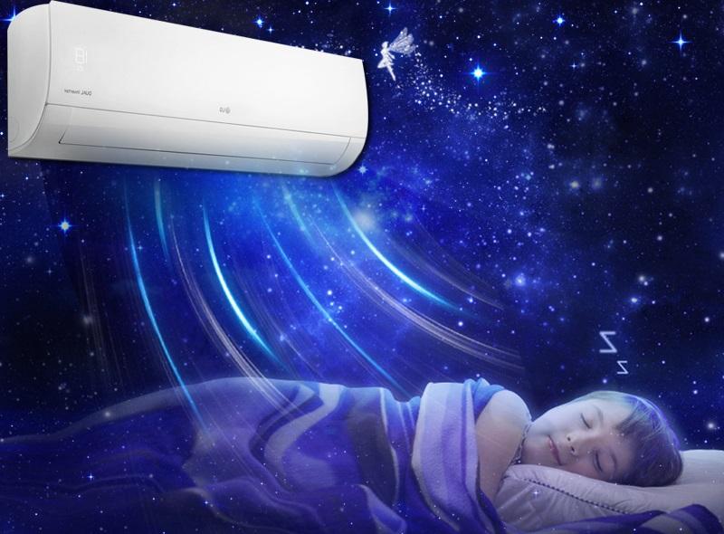 Tính năng vận hành êm ái của máy lạnh LG V10APQ