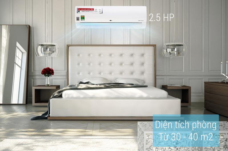 Máy lạnh LG V24END  với công suất làm lạnh lớn