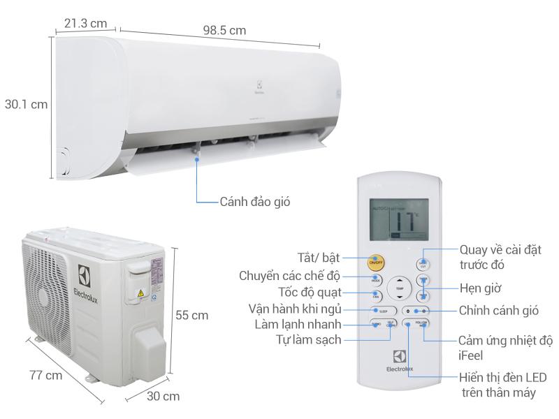 Thông số kỹ thuật Máy lạnh Electrolux Inverter 2 HP ESV18CRK-A3