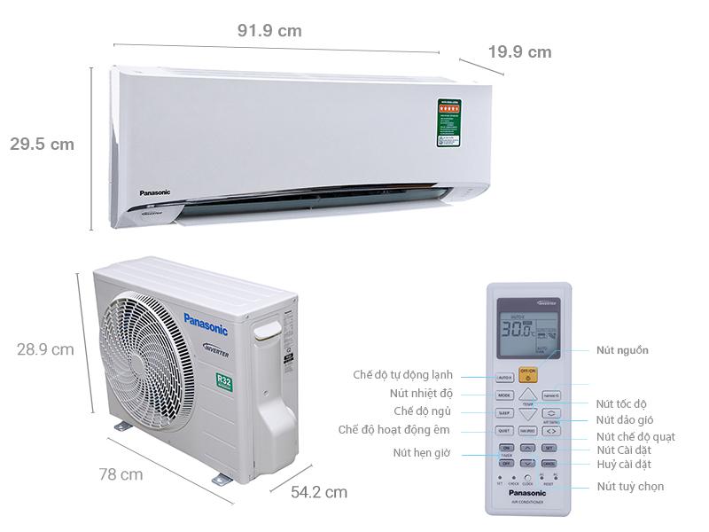 Thông số kỹ thuật Máy lạnh Panasonic Inverter 1.5 HP CU/CS-U12TKH-8