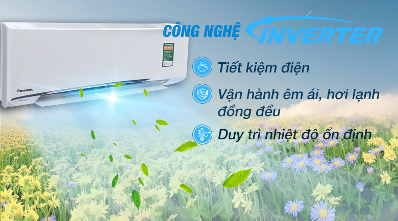 Inverter - Máy lạnh Panasonic Inverter 1.5 HP CU/CS-U12TKH-8