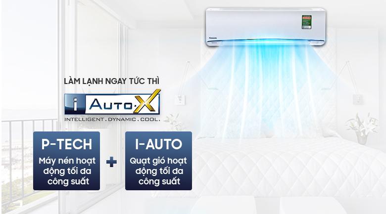 Làm lạnh nhanh tức thì - Máy lạnh Panasonic Inverter 1 HP CU/CS-U9TKH-8