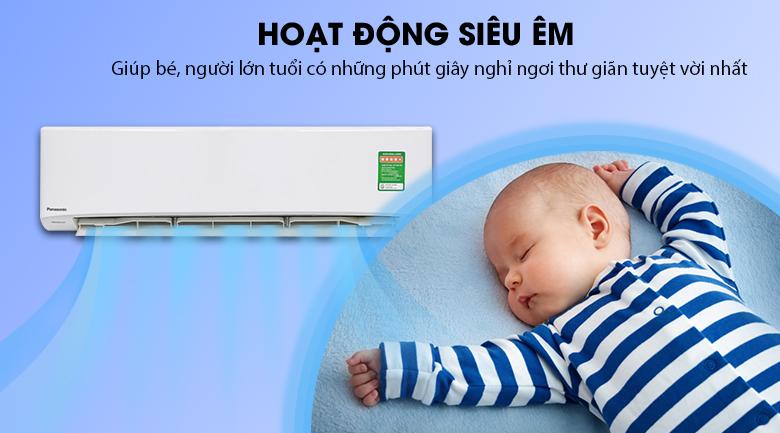Hoạt động siêu êm - Máy lạnh Panasonic Inverter 1 HP CU/CS-U9TKH-8