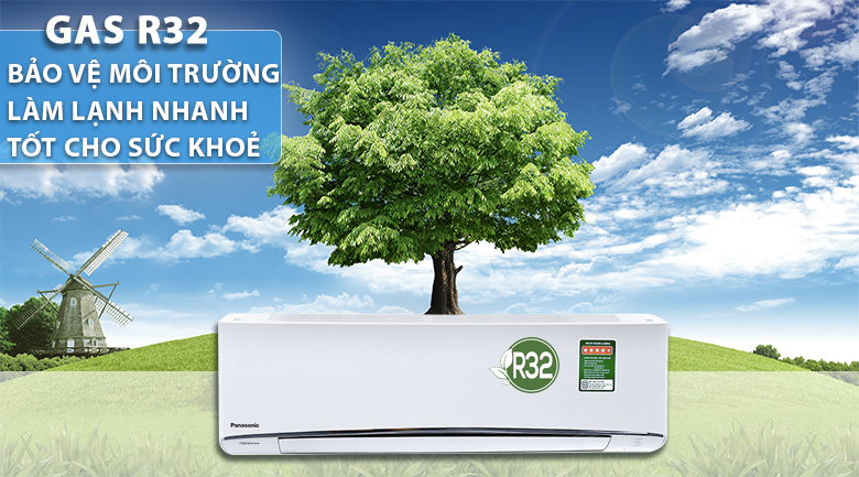 Gas R32 - Máy lạnh Panasonic Inverter 1 HP CU/CS-U9TKH-8
