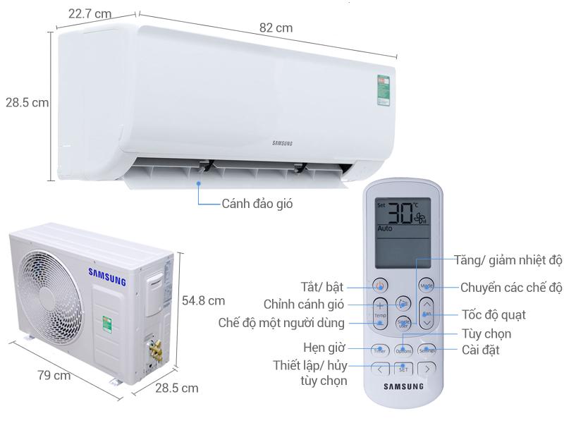 Thông số kỹ thuật Máy lạnh Samsung 1.5 HP AR12MCFHAWKNSV