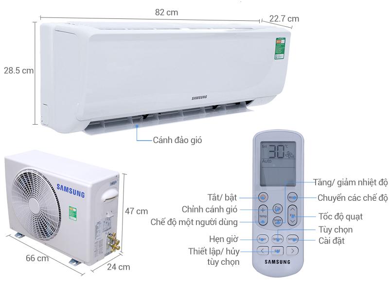 Thông số kỹ thuật Máy lạnh Samsung 1.0 HP AR09MCFHAWKNSV